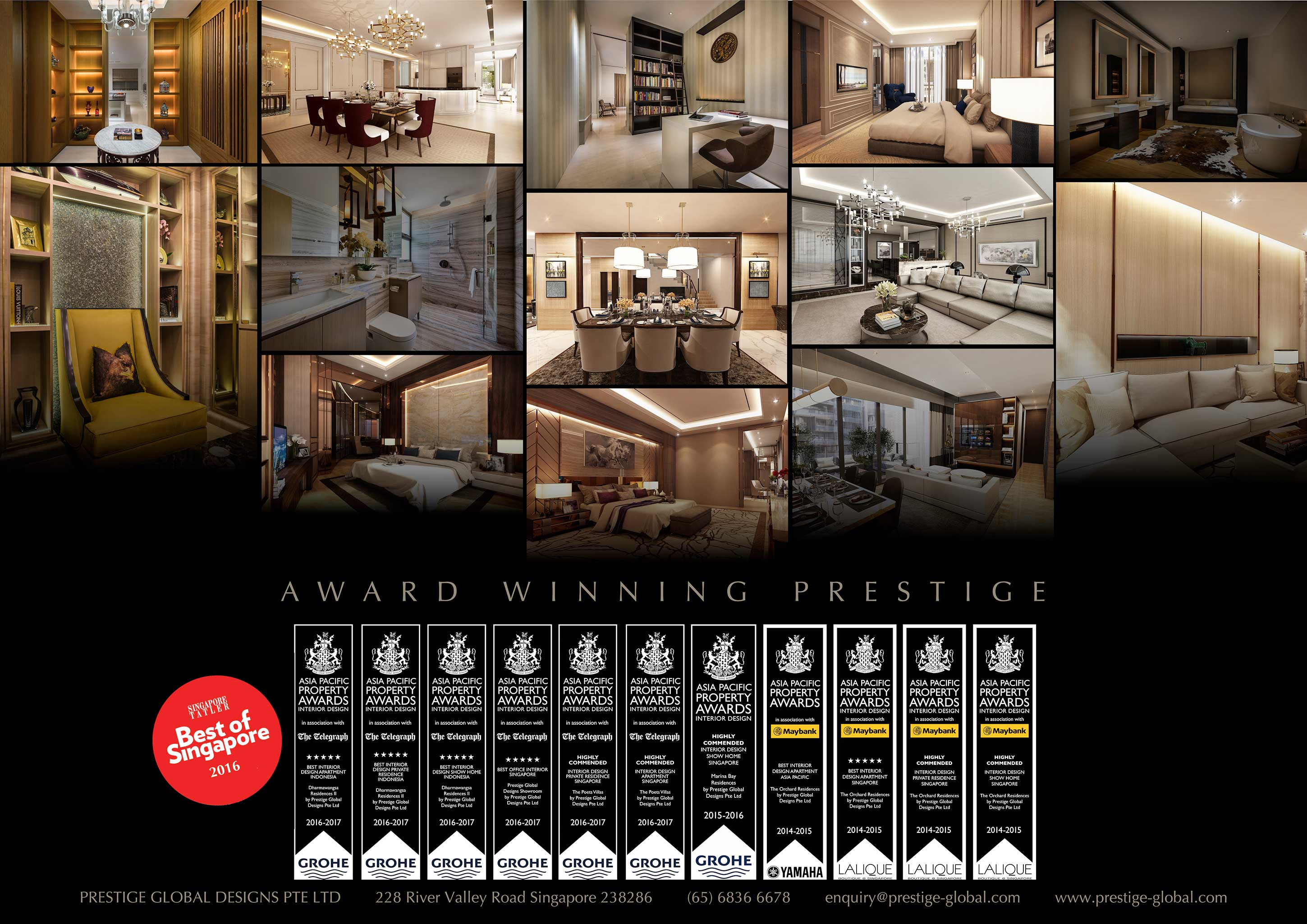 Awards And Two Asia Pacific Best Nominations At The Property Setting A Record For Most Given To Single Interior Design